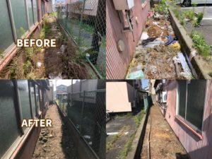 【磐田市】不用品回収と草刈りビフォーアフター