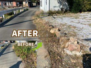 【浜松市】草取り&芝刈りからの除草剤散布