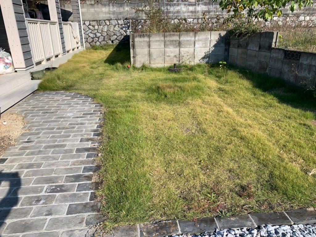 浜松市の芝刈り作業前