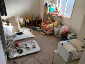 【浜松市】1Rの片付け、不用品回収の部屋作業前