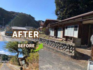 【掛川市】不用品回収と伐採、草刈り