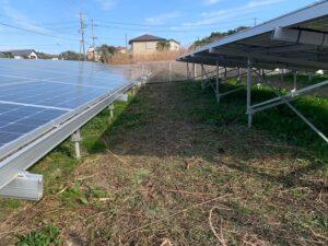 掛川市の太陽光ソーラーまわりの草刈り後