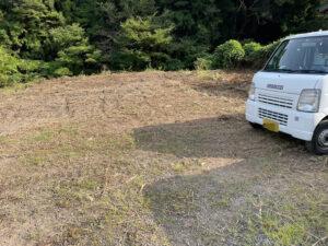 島田市の空き地整地後