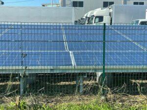 磐田市の極狭太陽光ソーラーの敷地草刈り作業後